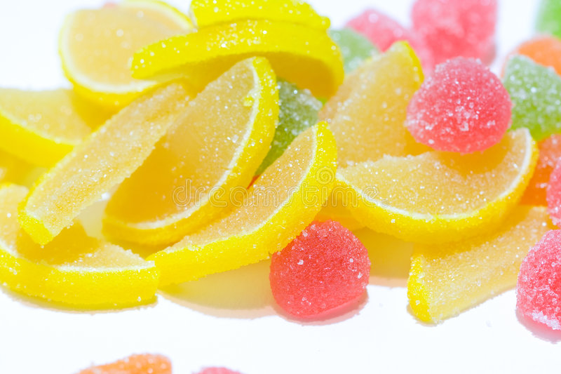 высушенные засахаренные плодоовощи стоковые изображения
