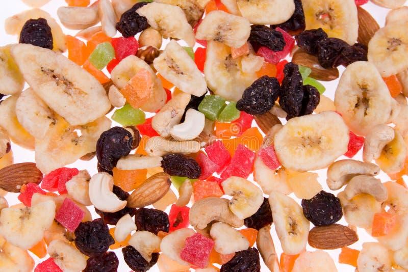высушенные плодоовощи смешивают гайки стоковое изображение rf