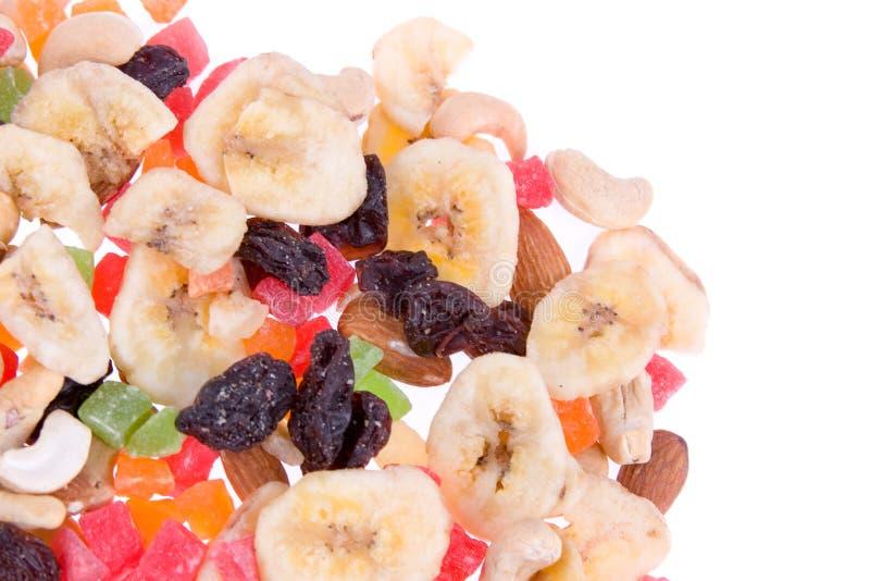 высушенные плодоовощи смешивают гайки стоковые изображения