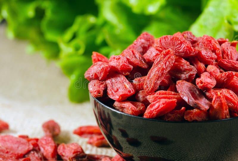 Высушенные ягоды Goji стоковая фотография rf