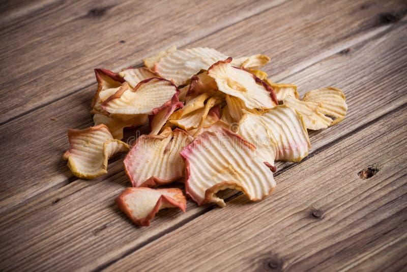 Высушенный куском плодоовощ Яблока стоковые изображения rf
