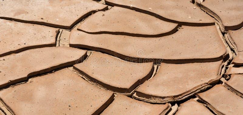 Высушенный суглинок в пустыне стоковые фото