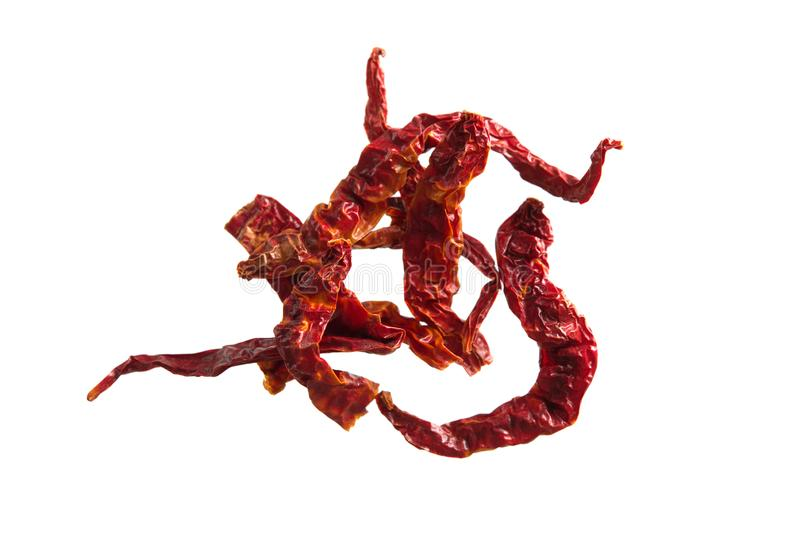 высушенный chili перчит красный цвет стоковое фото rf
