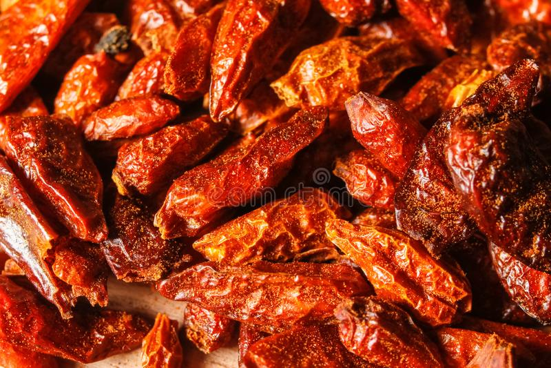 высушенный chili перчит красный цвет стоковые изображения
