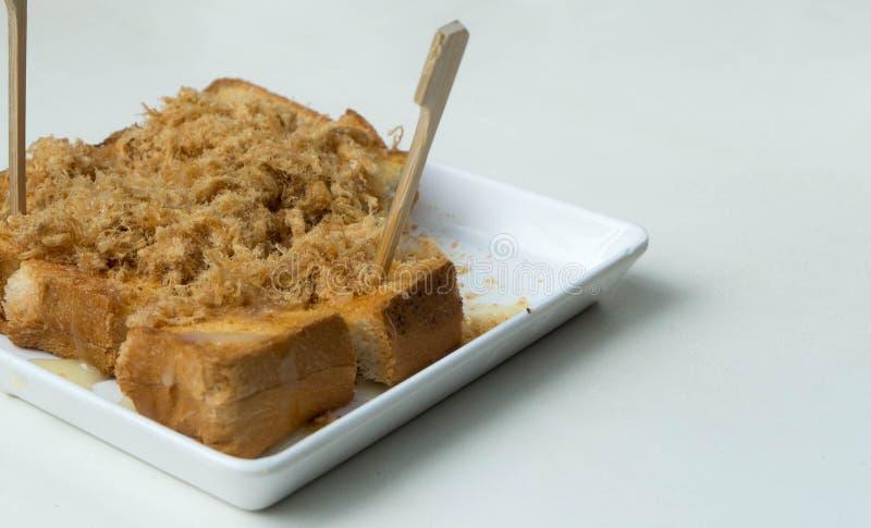 Высушенный shredded хлеб свинины стоковое изображение