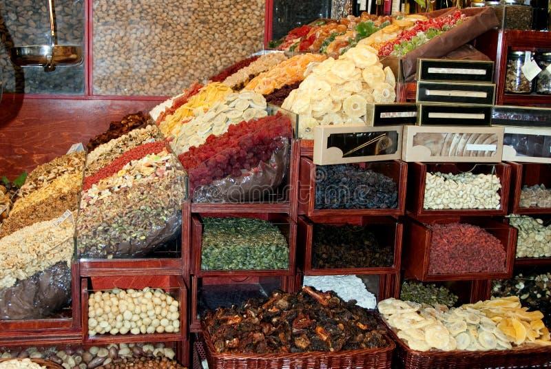 высушено - рынок плодоовощ стоковое изображение rf