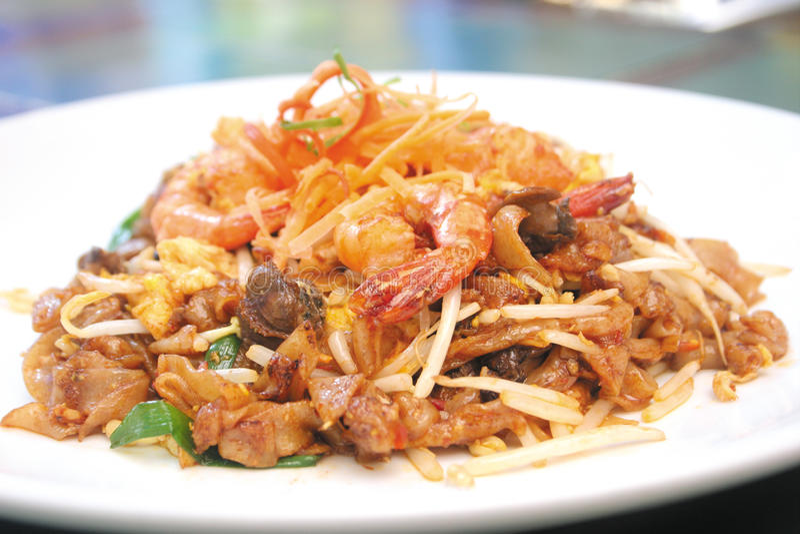 высушите зажаренный тип риса penag лапшей пряный стоковые фото