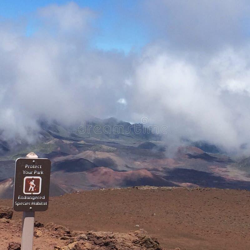 Высшая точка в Мауи, Гаваи стоковое фото