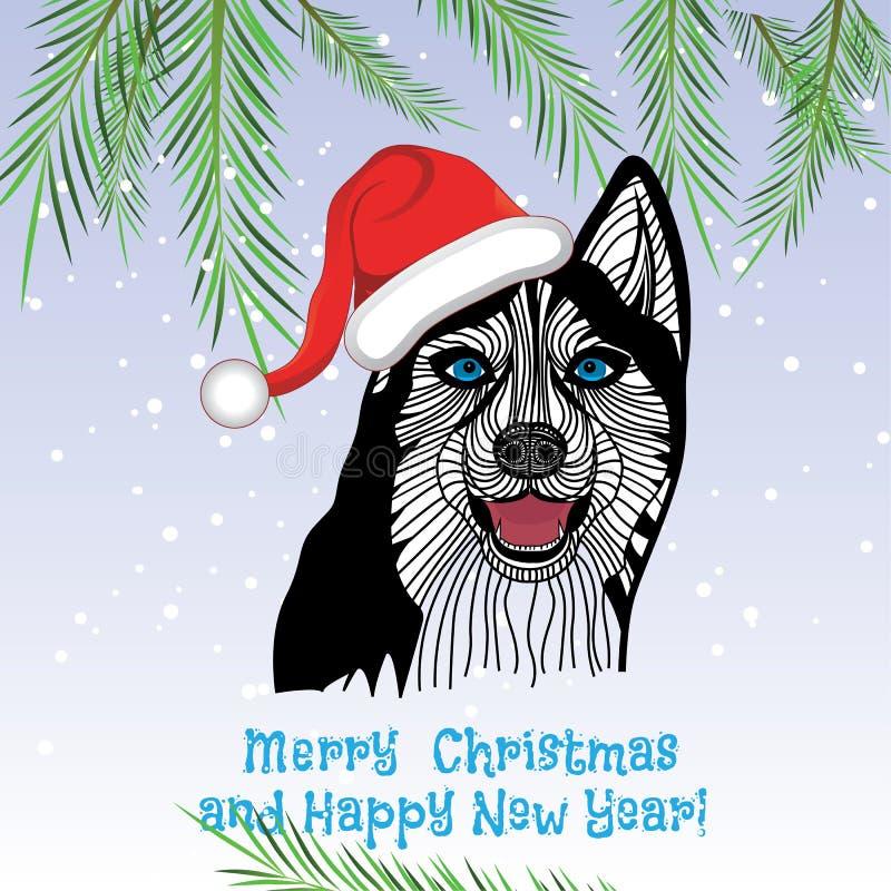Выследите концепцию щенка любимчика животную китайского Нового Года вектора и рождества собаки бесплатная иллюстрация