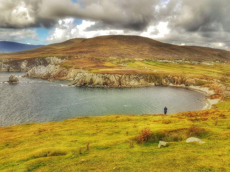Вытаращиться в залив и скалы стоковое изображение