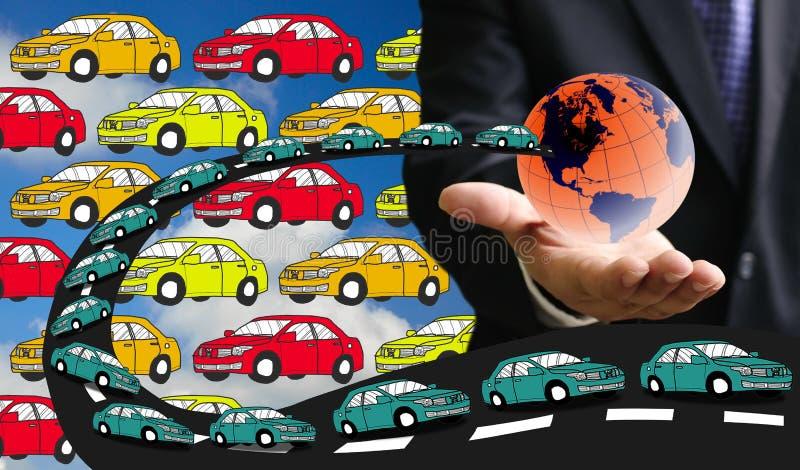 Вытыхание автомобиля формы загрязнения стоковое изображение rf