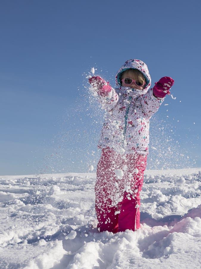 Вытяните снег стоковая фотография rf