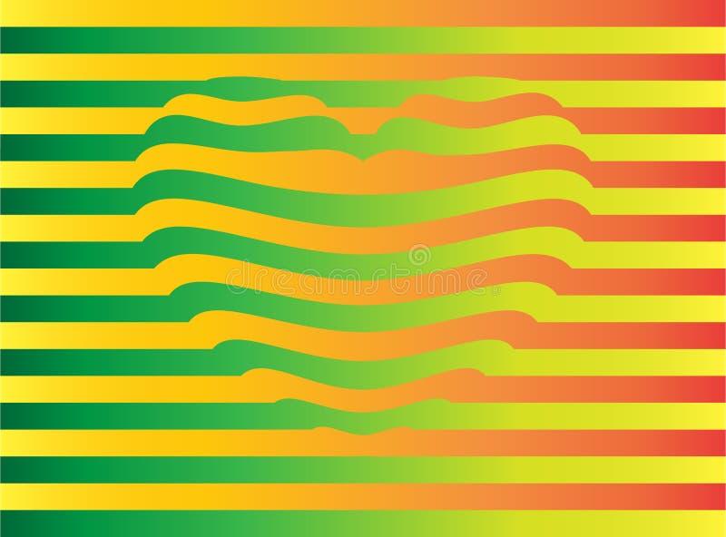 Вытянутое сердце желт-зелен-апельсина стоковая фотография rf