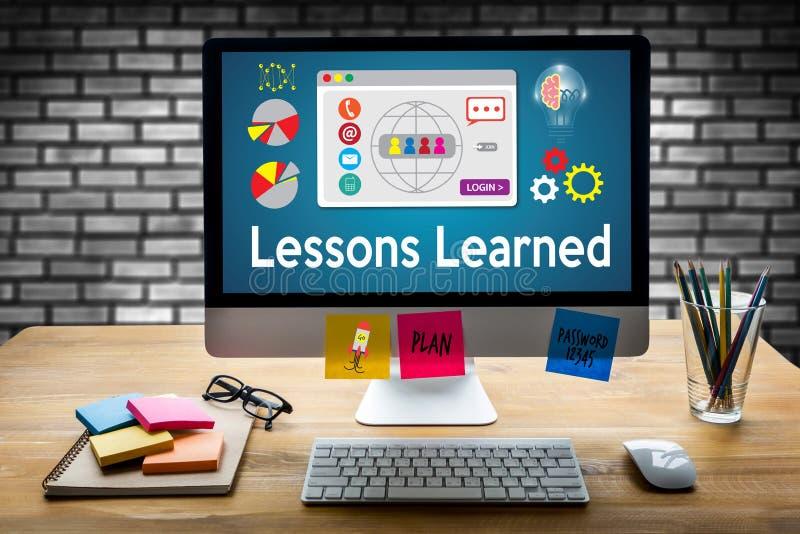 Выученные уроки учащ глобальную технологию взаимодействия, урок стоковая фотография