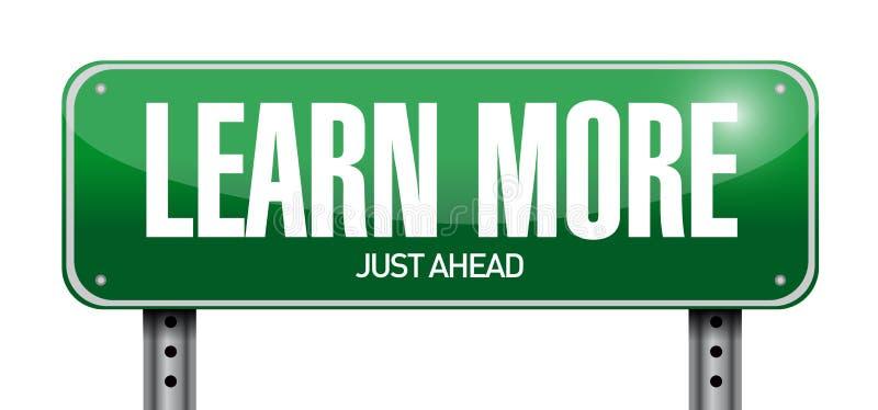 Выучите больше дизайна иллюстрации дорожного знака иллюстрация штока