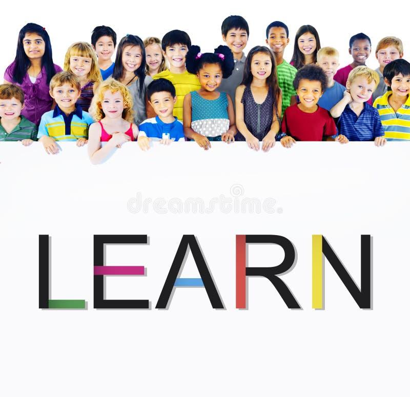 Выучите учить премудрость знания образования изучая концепцию стоковая фотография