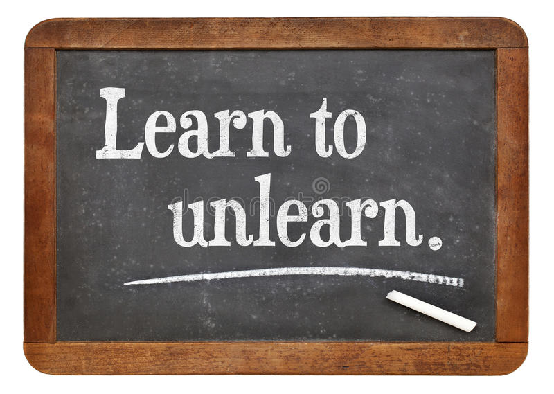 Выучите unlearn стоковое фото