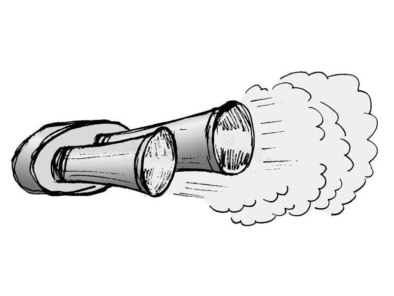 Выхлопная труба автомобиля иллюстрация вектора