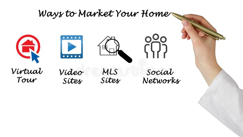 Выходить ваш дом вышед на рынок на рынок стоковые фотографии rf