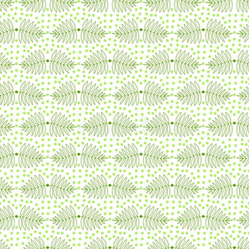 Выходит безшовная картина r Тропическая картина листьев Зеленая печать для создания программы-оболочки, ткань лета, дизайн обоев иллюстрация вектора