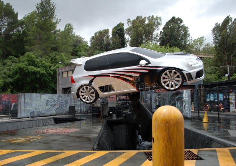 выходка летания автомобиля стоковая фотография rf