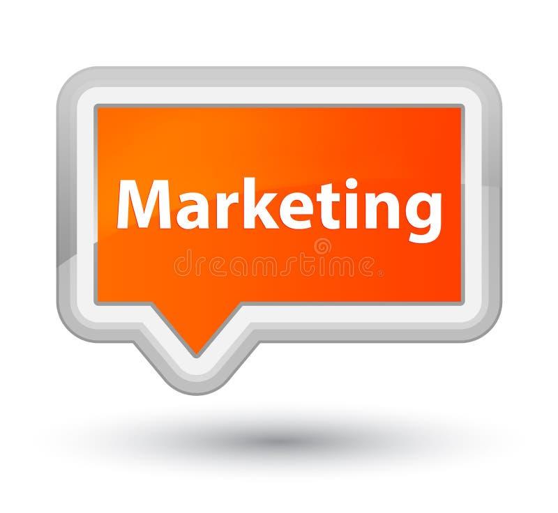 Выходя на рынок основная оранжевая кнопка знамени бесплатная иллюстрация