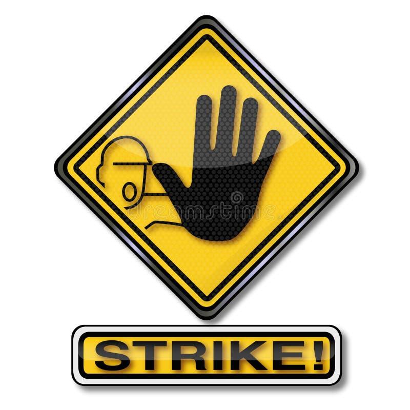 Выход и забастовка иллюстрация вектора