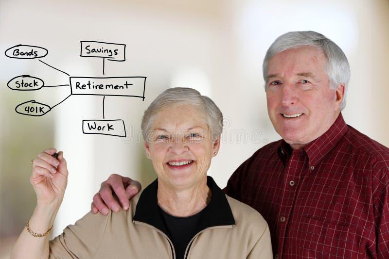 выход на пенсию запланирования стоковое фото