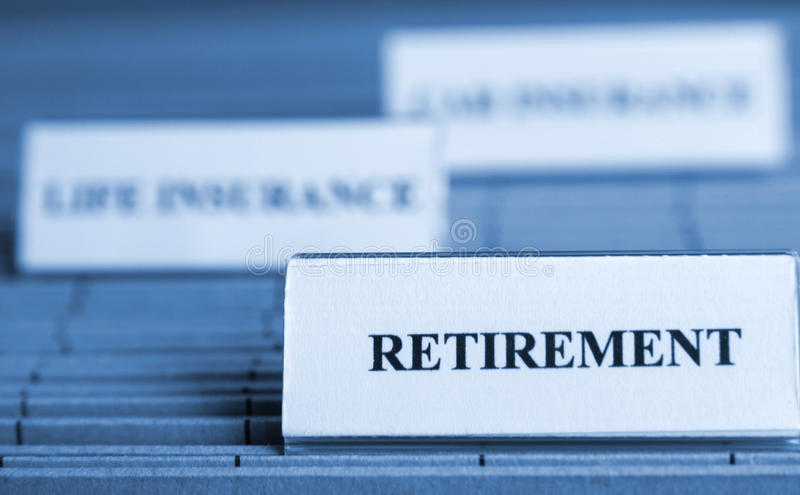 выход на пенсию стоковое изображение rf