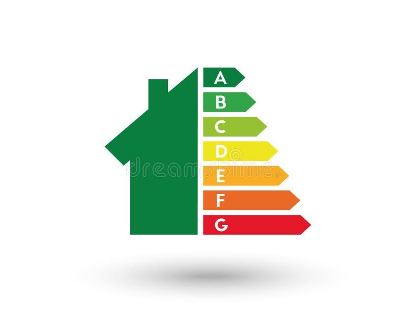 Выход по энергии и концепция улучшения дома иллюстрация вектора