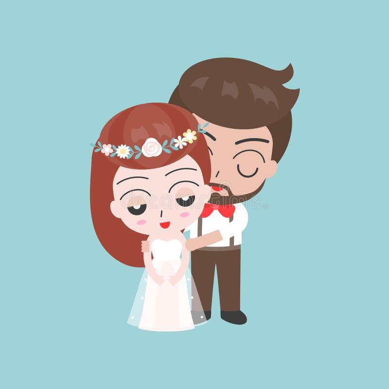 Выхольте и характеры застенчивой невесты милые для пользы как invitatio свадьбы иллюстрация вектора