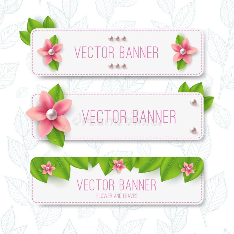 Выходит знамя иллюстрация вектора