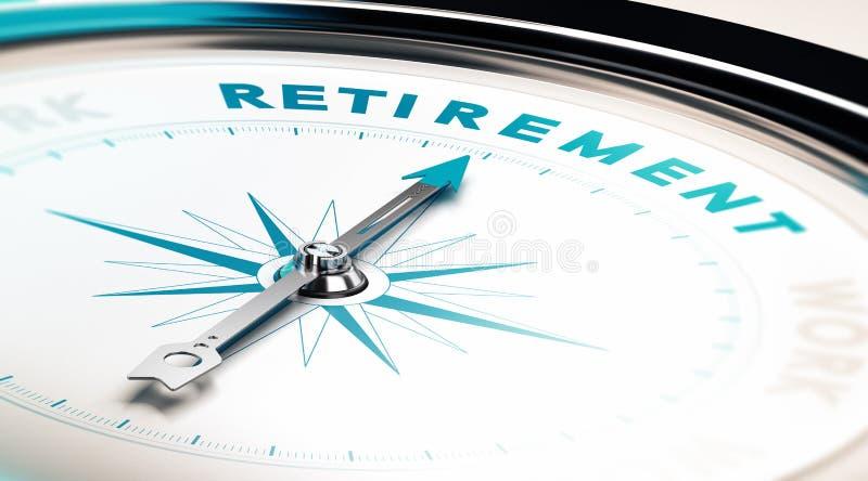 Выход на пенсию иллюстрация штока
