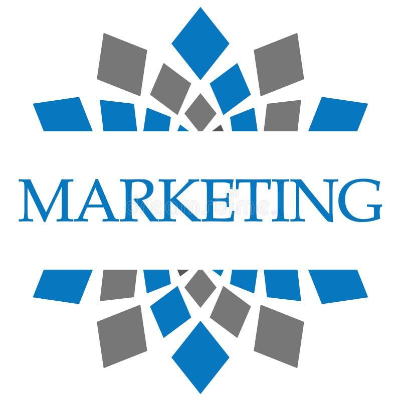 Выходя на рынок циркуляр голубого серого цвета бесплатная иллюстрация
