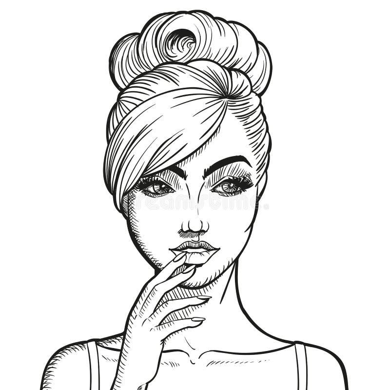 вычерченная женщина руки бесплатная иллюстрация