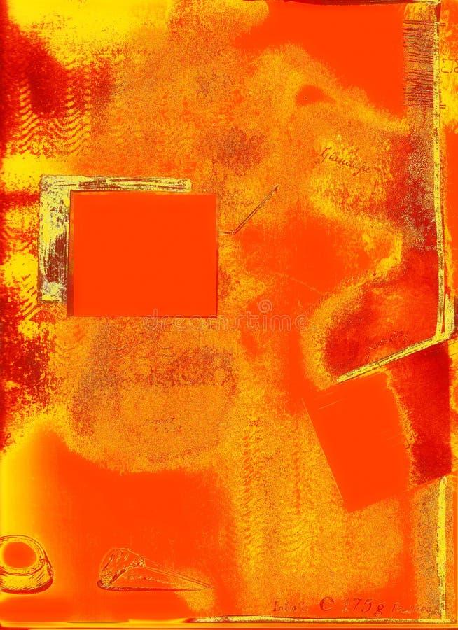 вычерченная страница руки grunge элементов иллюстрация вектора