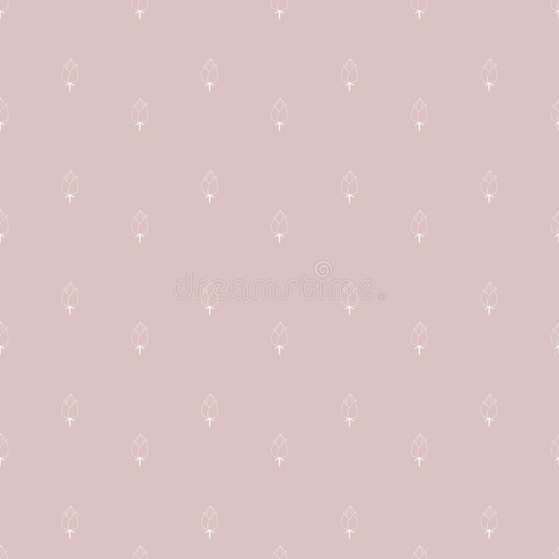 вычерченная флористическая картина руки безшовная бесплатная иллюстрация