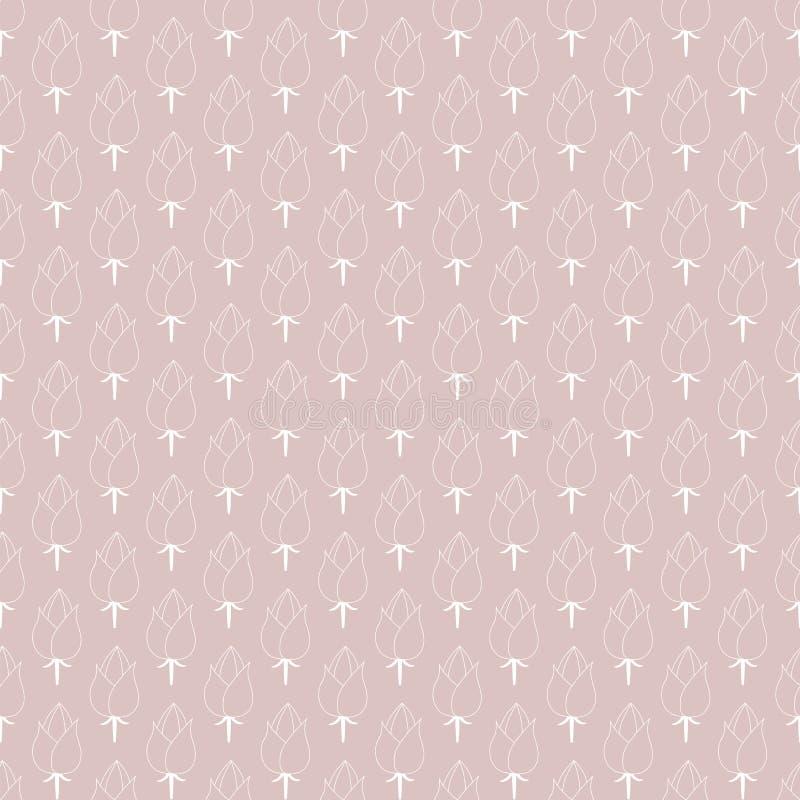 вычерченная флористическая картина руки безшовная иллюстрация штока