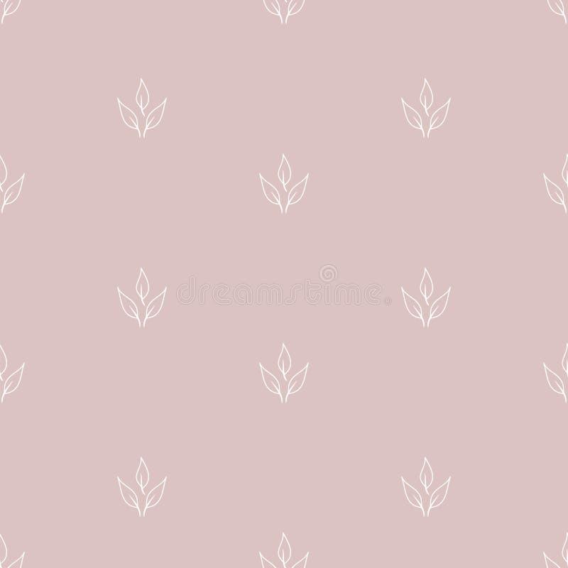 вычерченная флористическая картина руки безшовная иллюстрация вектора