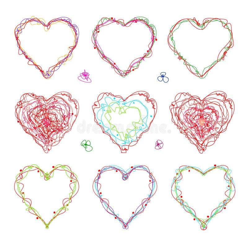Вычерченное сердце для день ` s дня, валентинки ` s матери или свадьбы бесплатная иллюстрация