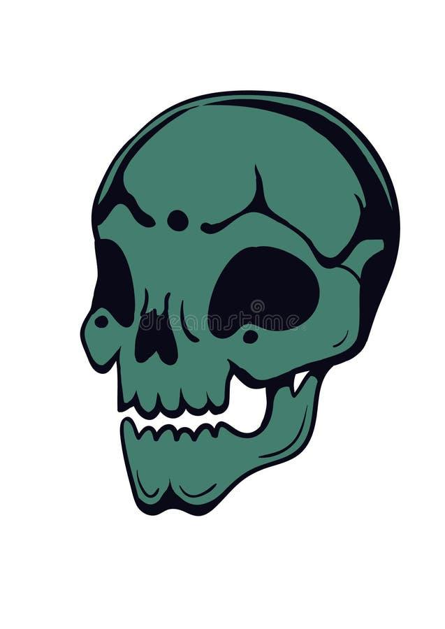вычерченный череп руки стоковая фотография