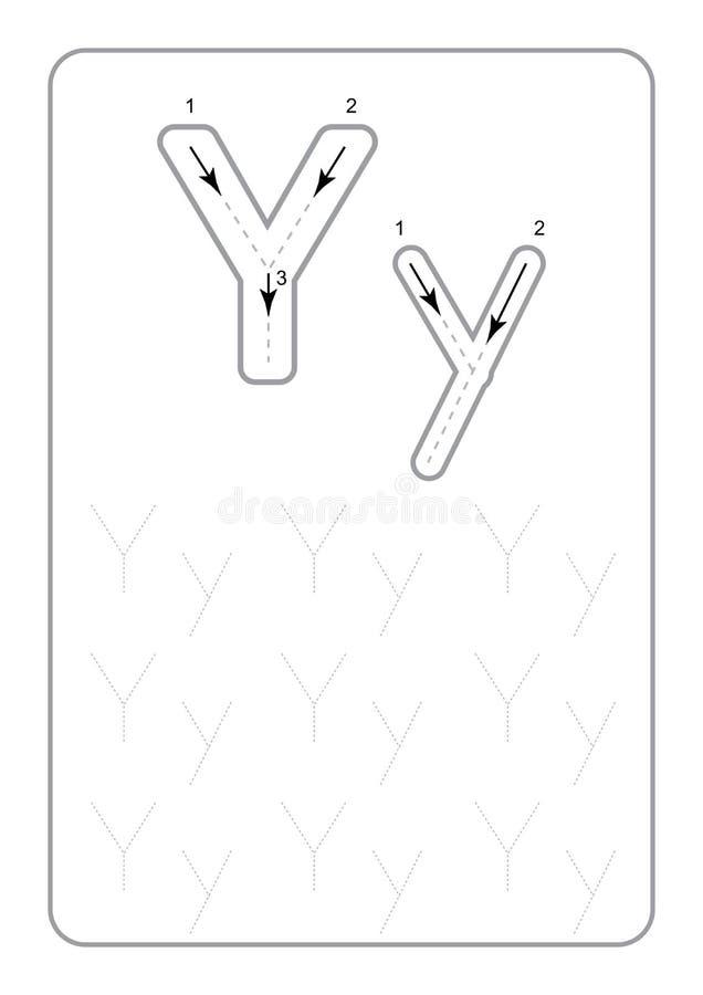 Вычерчивание детского сада помечает буквами рабочие листы писем рабочих листов monochrome следуя на белом векторе предпосылки иллюстрация вектора