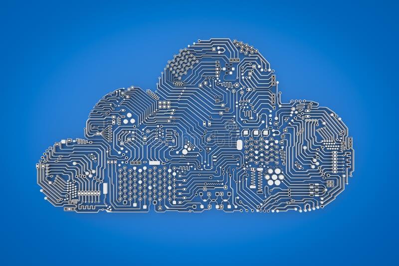 Вычислительная технология облака иллюстрация штока
