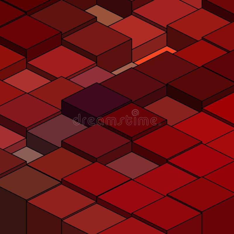 вычисляет геометрическое Красные квадраты Иллюстрация Eps 10 вектора абстрактная иллюстрация штока