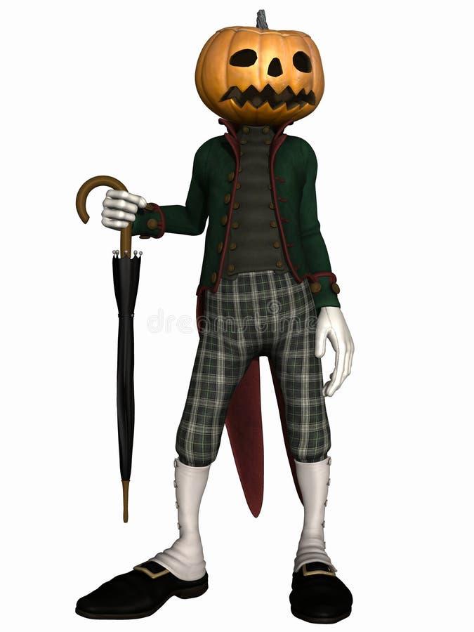 вычисляйте тыкву господина halloween иллюстрация вектора