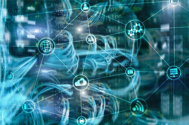 Вычислять и связь облака инфраструктуры технологии Концепция интернета стоковая фотография