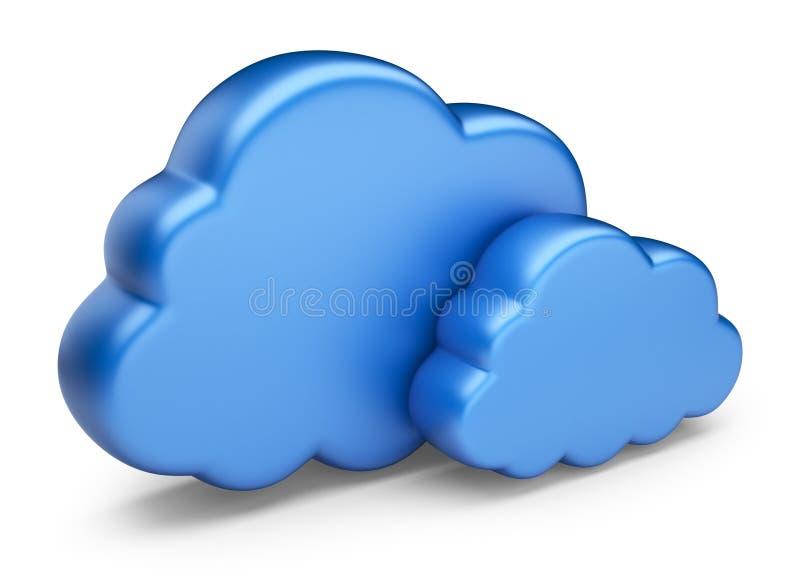 Вычислять облака. изолированная икона 3D бесплатная иллюстрация