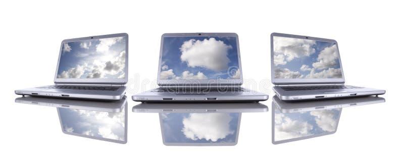 вычислять облака стоковое фото