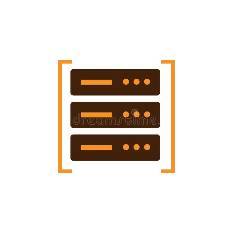 Вычисляющ, значок центра данных Элемент значка оптимизирования сети для мобильных приложений концепции и сети Детальный вычислять бесплатная иллюстрация