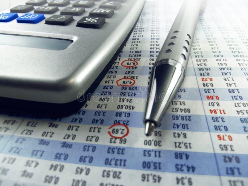 Вычисление акционерной биржи стоковая фотография